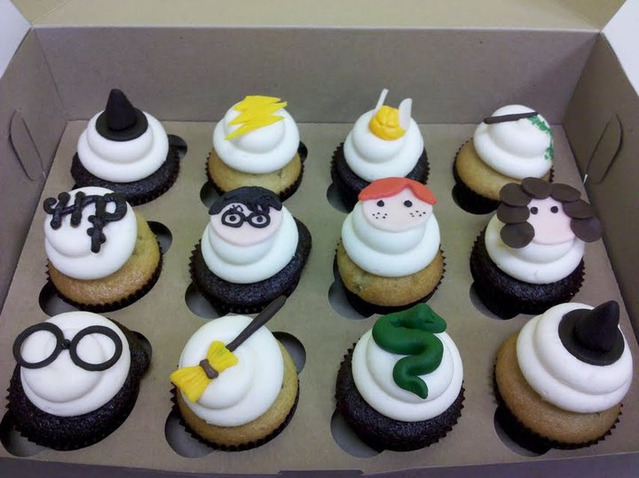 Harry Potter Themed Cupcakes Cakes And Cupcakes Harry Potter Cupcakes Cupcake
