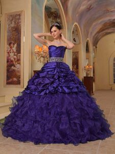 Ball Gown Sweetheart Quinceanera Dresses with Pick-ups and Ruching in 2014