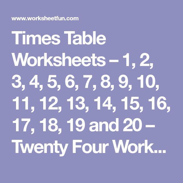 Best 25 Free printable multiplication worksheets ideas on