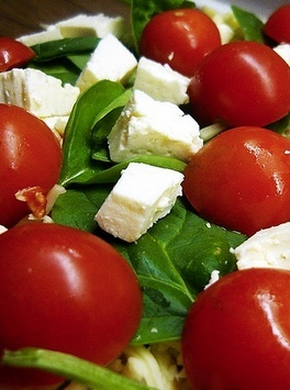 Tomato Feta salad, sounds yummy!!