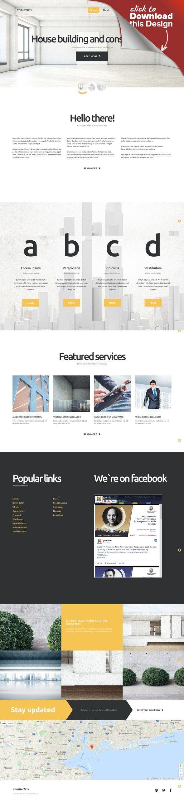 Architecture Joomla Template CMS & Blog Templates, Joomla Templates, Design & Photography, Design, Architecture
