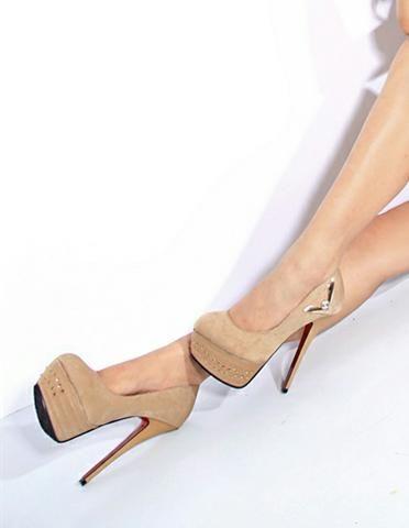 #Rivets V-pattern#Rivets V-pattern Stud Embellished Platform High Heel Khaki http://www.clothing-dropship.com/rivets-v-pattern-stud-embellished-platform-high-heel-khaki-g1486687.html