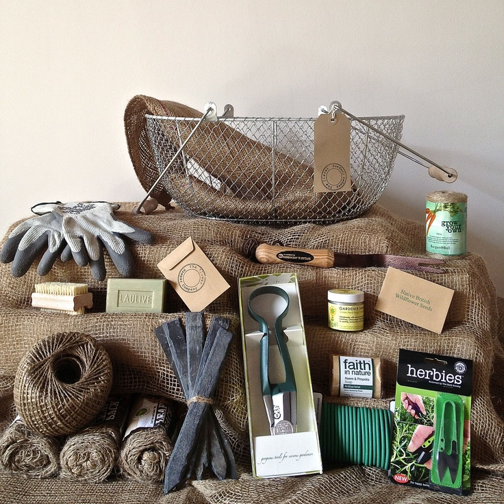 Lady wire basket hamper. The best gardening hampers you can buy! www.thecleverhampercompany.co.uk