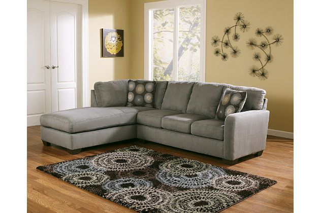 Zella 2 Piece Sectional With Chaise Ashley Furniture Homestore In 2021 Contemporary Sectional Sofa Furniture Sectional Sofa