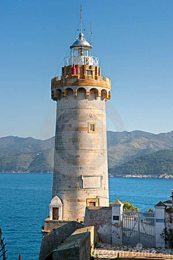 Portoferraio Lighthouse,isle of Elba, Livorno, Italy