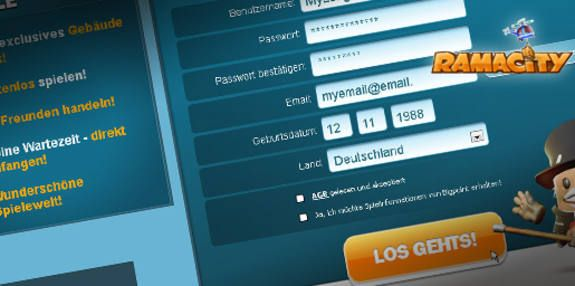 Registration screen #Ramacity, now running in new design as #RisingCities