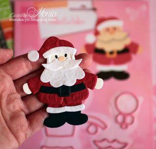 Moja papierowa kraina: Kartka świąteczna z Mikołajem