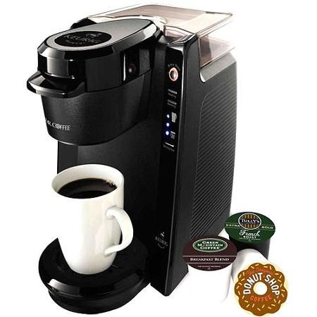 Mr. Coffee 24-oz Single Serve Coffee Maker - Takes Keurig cups, rated higher by consumer reports than all Keurig models.