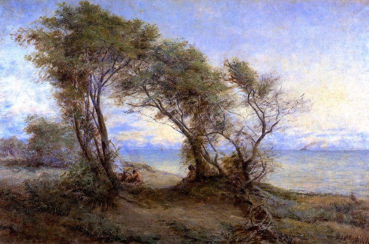 Brighton Beach by Frederick McCubbin 1896.  Brighton  is a bayside suburb in Melbourne Australia