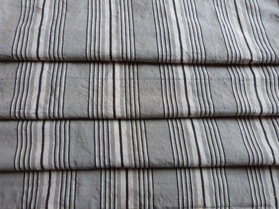 Vintage Linen Mattress Ticking French Ticking Stripe