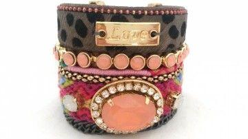 Ibiza armband love. Gs met deze Ibiza armband voor een echte gypsy look!