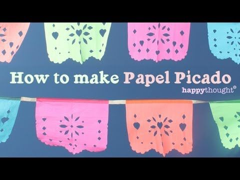 How to make your own DIY papel picado for parties or fiestas at home! - YouTube