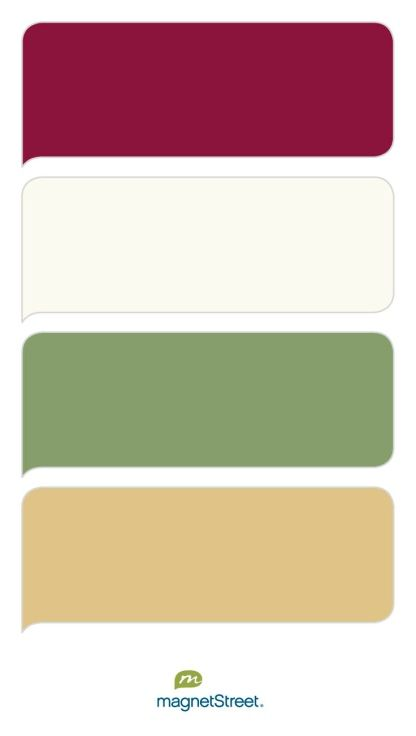 Burgundy ivory sage and gold wedding color palette custom color palette created at - Color schemes with maroon ...