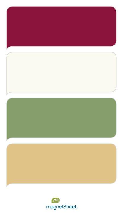 Burgundy Ivory Sage And Gold Wedding Color Palette