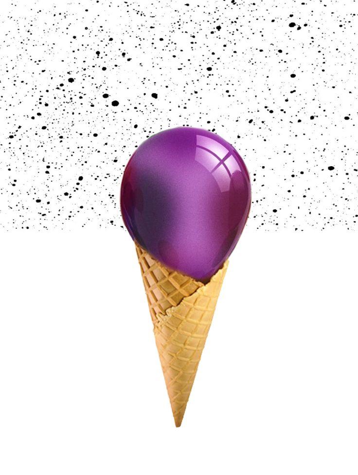 деформация мороженого, шарик мороженого