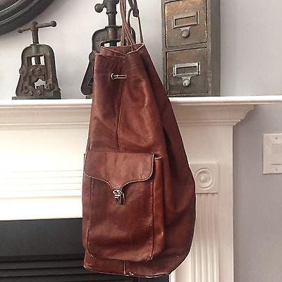 Vintage-XLarge-Leather-Sling-Bag-Backpack-19-High-Purse-Boho