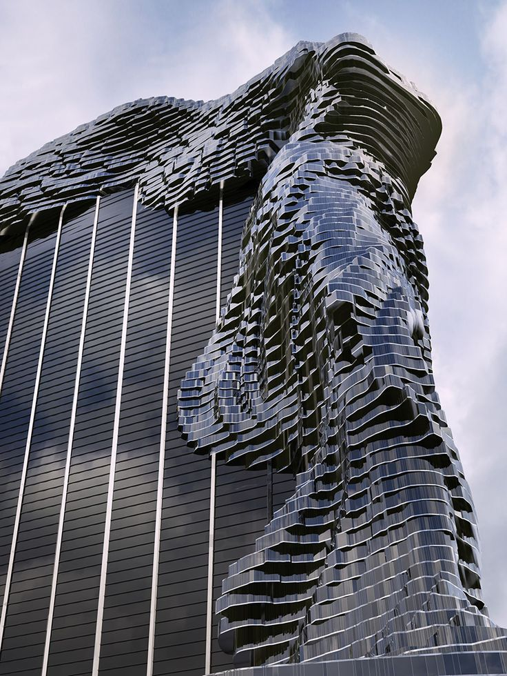 this winged waterfront skyscraper was inspired by an ancient statue russian architectureconceptual architecturecool - Cool Architecture Design