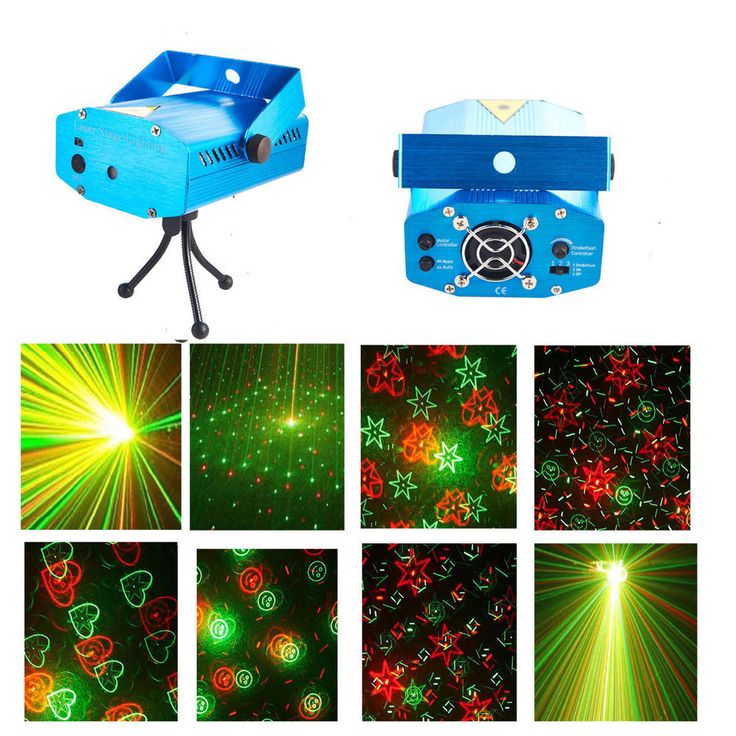 Mini Laser Active LED Stage Disco Lighting Laser Projector Xmas DJ Party Lights