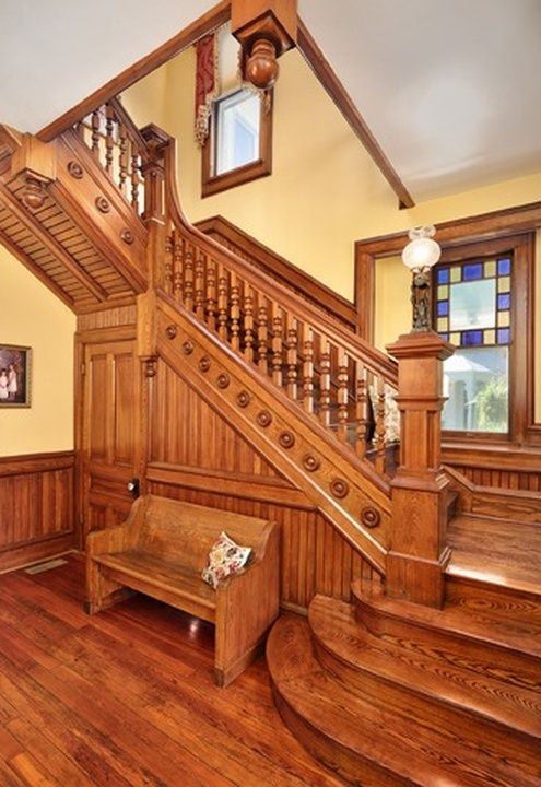 Victorian Era Foyer : Stairway entryway in n wood ave florence al