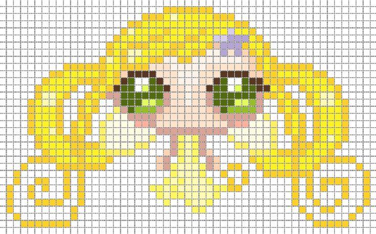 yosei Ninì pattern | Cross stitch/perler beads free