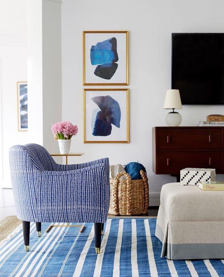 Arquitetura, Tapetes, Salas De Estar Brancas, Salas Brancas, Espaços Vivos,  Quartos Azuis, Cadeiras Azuis, Sul Costa Decoração, Receitas Part 56