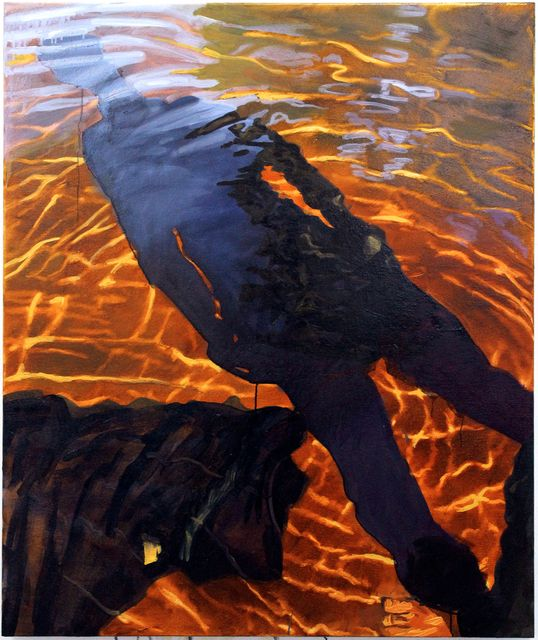 Into The River -Sara-Vide Ericson, oil on canvas, 2014