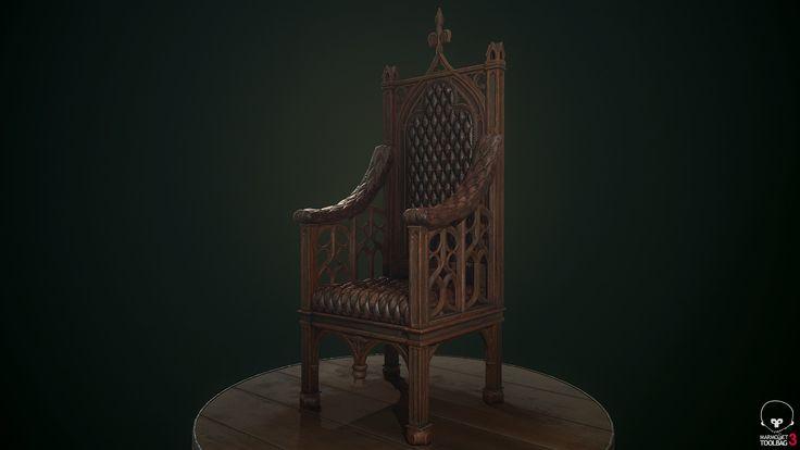 ArtStation - Dumbledore's chair (wip), Ognyan Zahariev