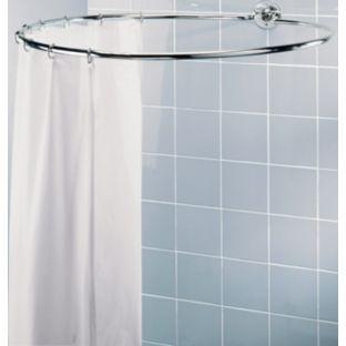 buy circular shower rail chrome finish at. Black Bedroom Furniture Sets. Home Design Ideas
