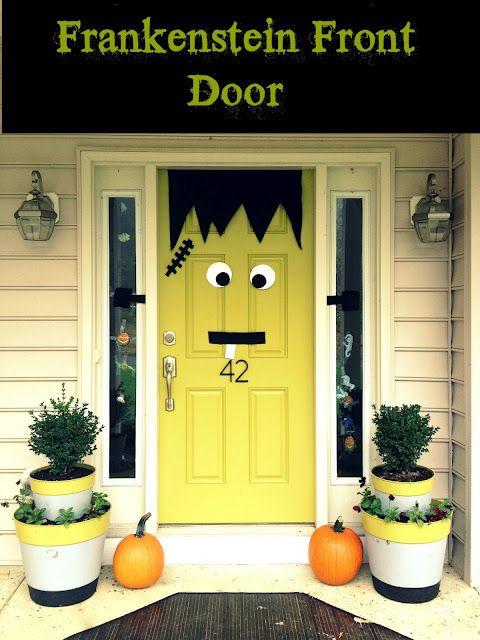 Halloween Door Decor. Frankenstein!