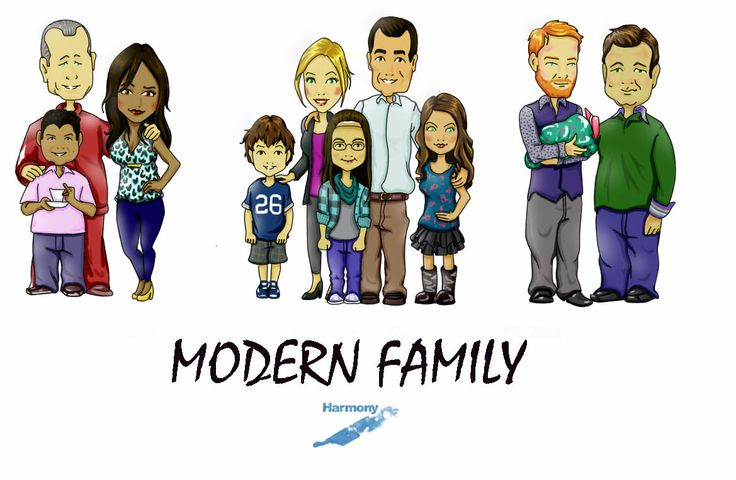 A Drawing I Made Of Modern Family.   My Art   Pinterest   A Drawing Modern And Drawings