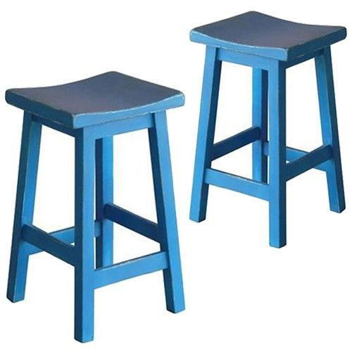 Set of 2 - Osaka Bar Stool - Blue