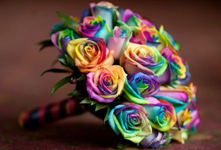 rainbow rose bouquet; Someone needs to buy me some of these!