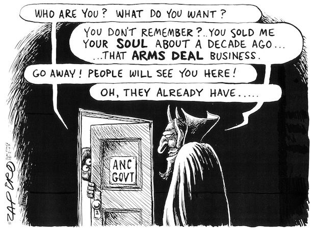 Zapiro - Sell Your Soul to the DEvil published in Sunday Times on 18 Feb 2007