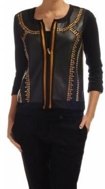 Original zwart jasje met studs Angela Groothuizen | Zapstore.nl
