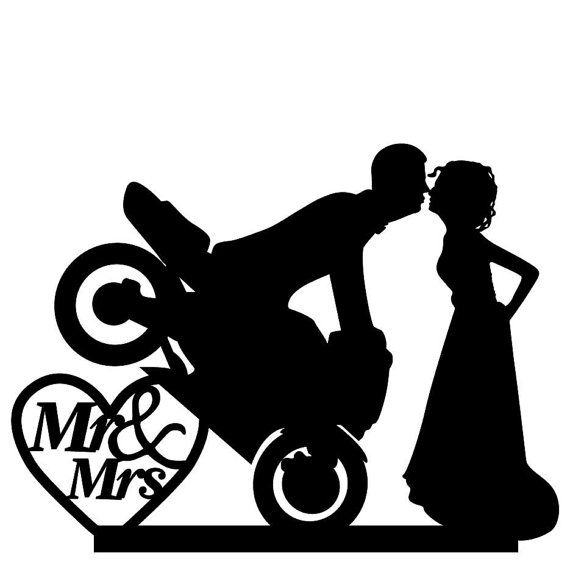 Hey, I found this really awesome Etsy listing at https://www.etsy.com/listing/265400735/motocross-cake-topper-me-and-mrs-wedding
