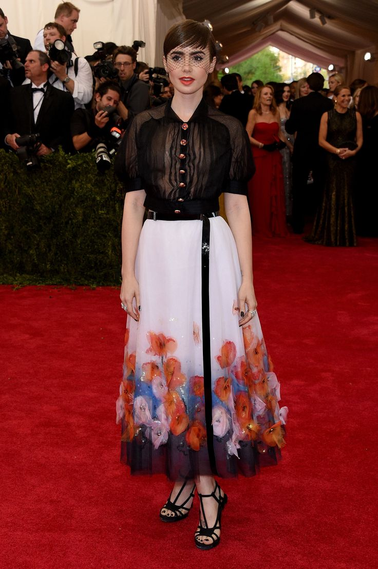 Lily Collins in Chanel at the Met Gala 2015