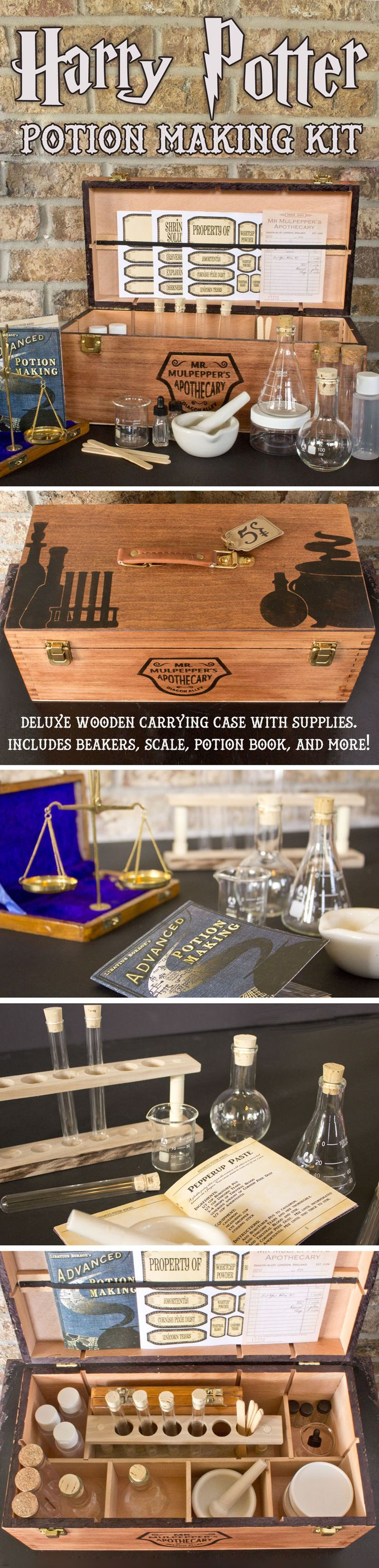 Get ready for Potions class with Professor Snape at Hogwarts with your very own potions kit from Mr. Mulpepper's Apothecary. The perfect gift for the Harry Potter fan in your life!