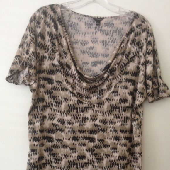 Ann Taylor Size  Medium black and beige blouse Cowl neck blouse in great condition Ann Taylor Tops Blouses