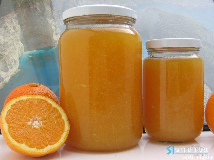 Narancs dzsem üvegben