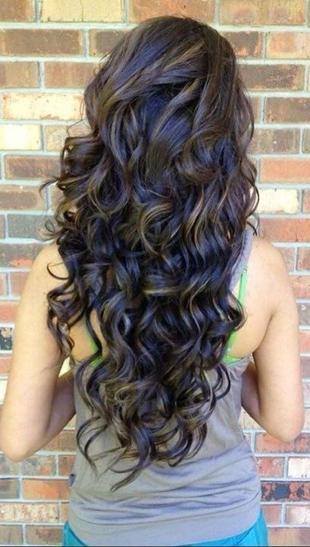 20 Loose Curly Hairstyles For Long Hair 12 Dark Curly Hair