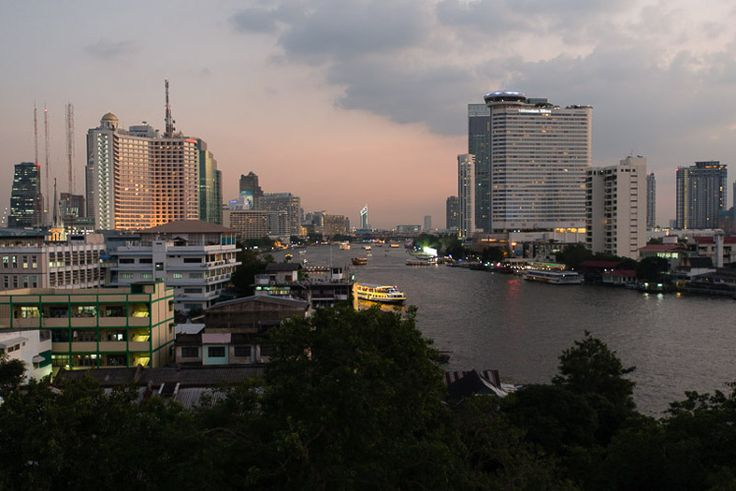 The Chao Phraya River as seen from River Vibe, River View Guest House, Bangkok. Image by Austin Bush