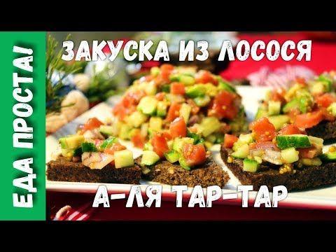 Закуска а-ля «Тар-тар» из лосося / Едальня