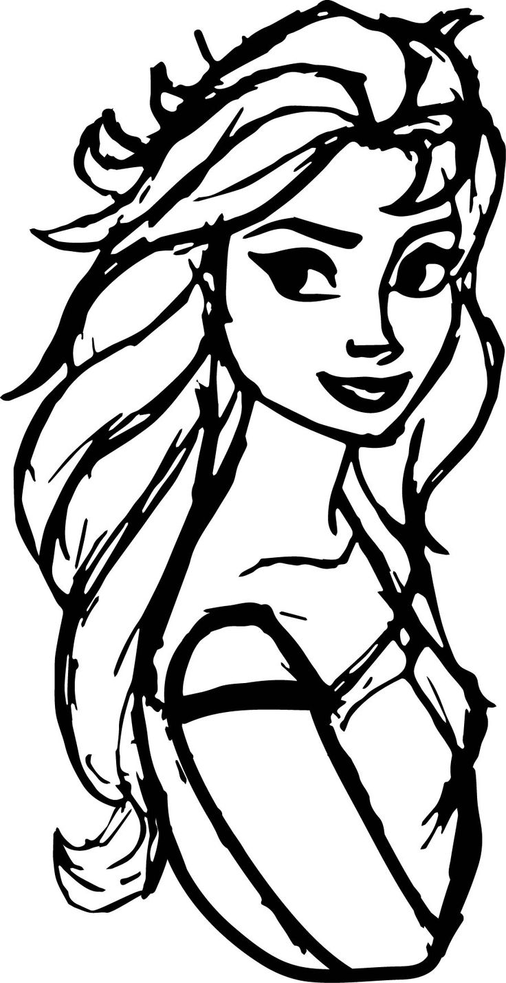 47++ Frozen 2 coloring pages elsa hair down inspirations