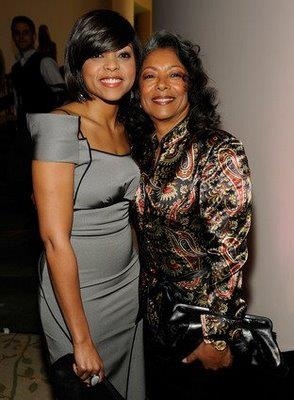 "Taraji P. Henson & Her Mom: She looks just like her mom and by the way, the ""P"" stands for Penda! YGGs!"