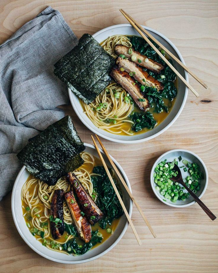 A pork belly ramen recipe that contrasts the richness of crispy pork belly with vibrant blanched green chard. Store bought ramen broth is punched up with soy sauce and green onions for a knockout bowl of pork belly ramen at home.