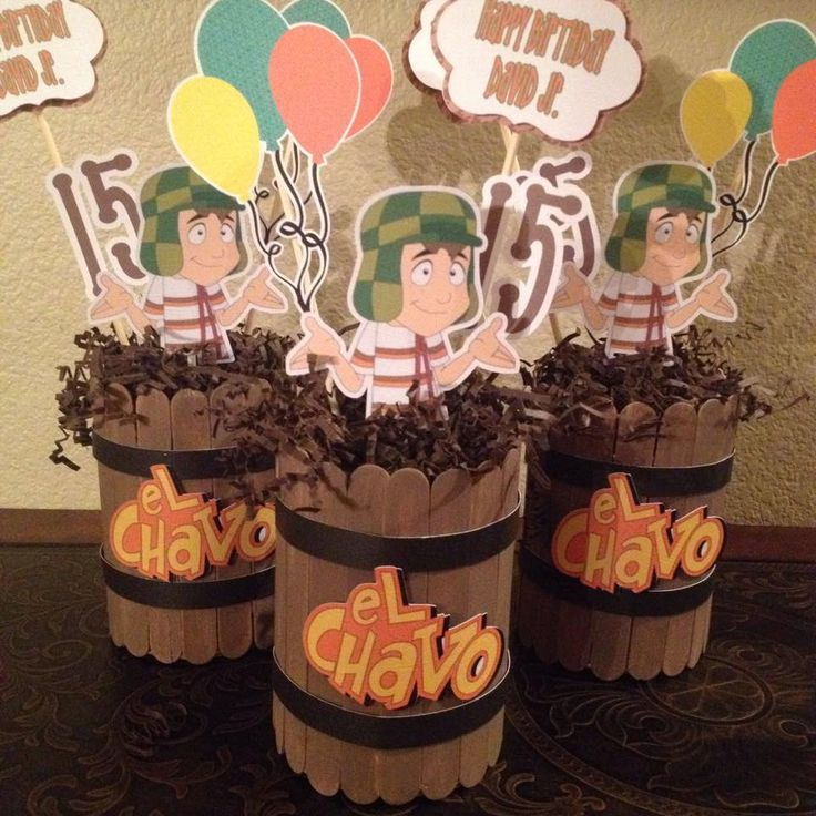 EL Chavo del Ocho Centerpieces by NiftyKreations1 on Etsy