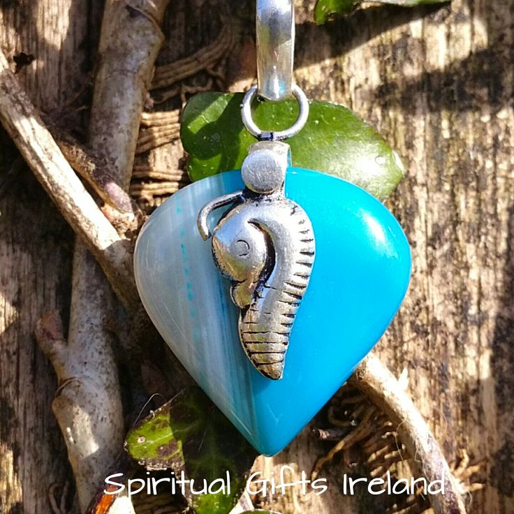 Botswana Blue Agate Seahorse Pendant Visit our store at www.spiritualgiftsireland.com  Follow Spiritual Gifts Ireland on www.facebook.com/spiritualgiftsireland www.instagram.com/spiritualgiftsireland www.etsy.com/shop/spiritualgiftireland	 We are also featured on Tumbler  💦💙💦Seahorses are magical creatures displaying the hidden energies of the sea.  They are one of the few creatures who have not changed their body type or evolved over time.  They amble along on the sea bed in their own…