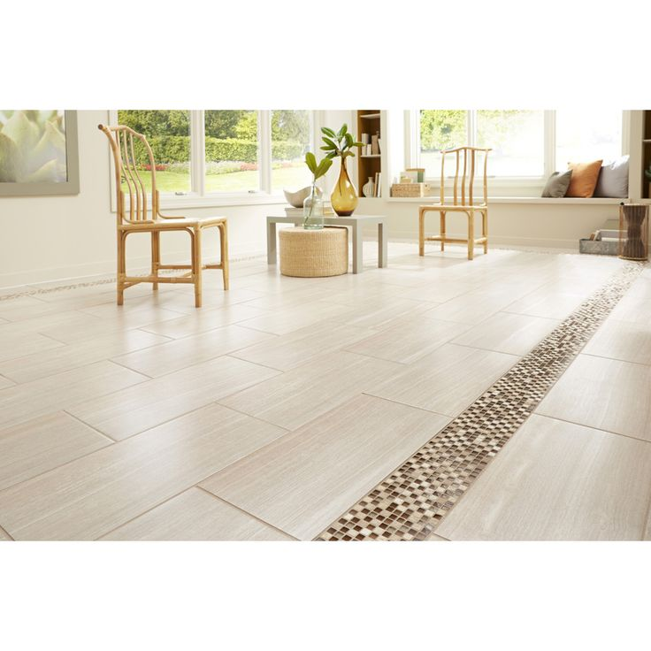 Leonia sand glazed porcelain indoor outdoor floor tile common 12 in x 24 in actual - Lowes floor tiles porcelain ...