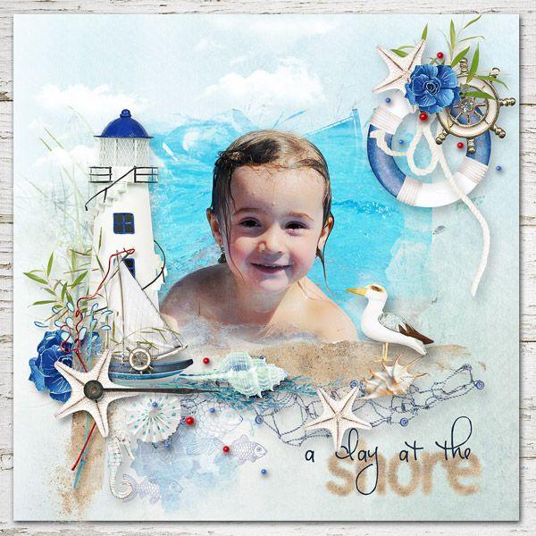 """Ellinka v krásné novince """"Sea Stories"""" Collection + Free Gift By Palvinka - sleva 50% http://shop.scrapbookgraphics.com/Sea-Stories-Collection-Free-Gift.html, photo my GD"""