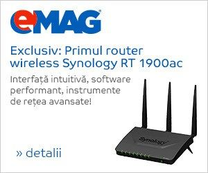 Router Wireless Synology RT1900AC, Dual Band AC, 4 x 10/100/1000 Mbps, USB, SD card - eMAG.ro Cumpara Router Wireless Synology RT1900AC, Dual Band AC, 4 x 10/100/1000 Mbps, USB, SD card… EMAG.RO